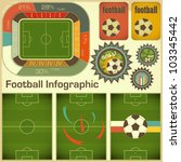 Football Infographic Elements for Presentation in Retro Style - Vector illustration - stock vector