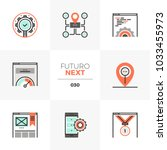 semi flat icons set of search...   Shutterstock .eps vector #1033455973