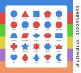 basic kids rounded corners flat ... | Shutterstock .eps vector #1033458643