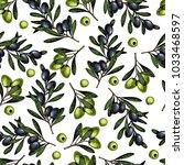 hand drawn seamless pattern of ... | Shutterstock . vector #1033468597