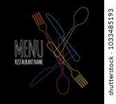 template for restaurant menu | Shutterstock .eps vector #1033485193