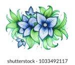 blue watercolor ornamentical...   Shutterstock . vector #1033492117
