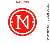 vector ink  ink  digital... | Shutterstock .eps vector #1033500187