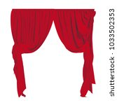 realistic decorative curtains... | Shutterstock .eps vector #1033502353