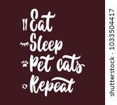 eat sleep pet cats repeat  ... | Shutterstock .eps vector #1033504417