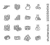 finance thin line icon set 1 ... | Shutterstock .eps vector #1033504543
