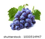 bunch of blue grapes with... | Shutterstock . vector #1033514947