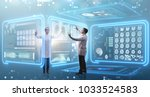 team of doctor in remote... | Shutterstock . vector #1033524583