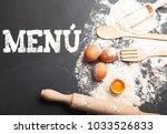 background of ingredients for...   Shutterstock . vector #1033526833
