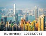 hong kong skyline   Shutterstock . vector #1033527763