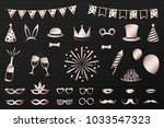 photobooth party icons   big... | Shutterstock .eps vector #1033547323