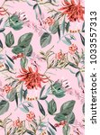 tropical exotic pattern with... | Shutterstock .eps vector #1033557313
