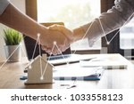 successful agreement   estate... | Shutterstock . vector #1033558123