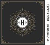 ornament monogram logo design... | Shutterstock .eps vector #1033563367
