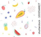 vector tropical fruit... | Shutterstock .eps vector #1033568827