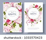 vector vintage floral banners... | Shutterstock .eps vector #1033570423