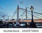 albert bridge london | Shutterstock . vector #1033573003