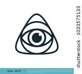 eyeball  vision icon vector... | Shutterstock .eps vector #1033575133