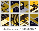 minimal flyers  booklets ... | Shutterstock .eps vector #1033586077