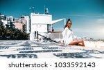 young sexy brazilian female... | Shutterstock . vector #1033592143