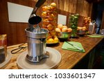 bar counter with electrical... | Shutterstock . vector #1033601347