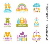 a set of logos with accessories ... | Shutterstock .eps vector #1033603513