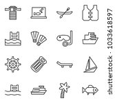 flat vector icon set  ... | Shutterstock .eps vector #1033618597