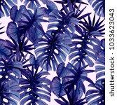 watercolor seamless pattern...   Shutterstock . vector #1033623043