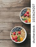 homemade granola with dried... | Shutterstock . vector #1033624207