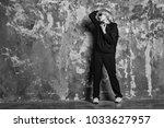 woman in wig hair wear sport...   Shutterstock . vector #1033627957