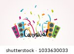 carnival lettering with... | Shutterstock .eps vector #1033630033