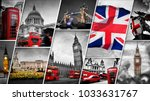 collage of the symbols of... | Shutterstock . vector #1033631767
