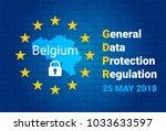 gdpr   general data protection... | Shutterstock .eps vector #1033633597