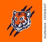 tiger mascot logo template for... | Shutterstock .eps vector #1033636147