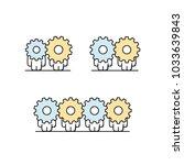 funny cute men with gear wheels ... | Shutterstock .eps vector #1033639843