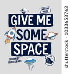 give me some space slogan... | Shutterstock .eps vector #1033653763