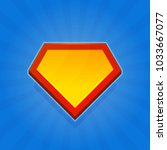 blank superhero logo icon on... | Shutterstock . vector #1033667077