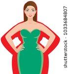 slender woman after successful...   Shutterstock .eps vector #1033684807