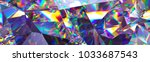 3d render  abstract crystal... | Shutterstock . vector #1033687543