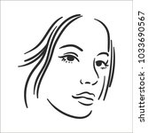 woman face illustration icon in ...   Shutterstock .eps vector #1033690567