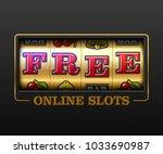free online slots  slot machine ... | Shutterstock .eps vector #1033690987