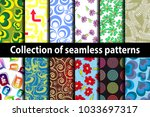 collection seamless patterns on ... | Shutterstock .eps vector #1033697317