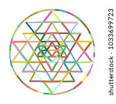 sacred geometry and alchemy... | Shutterstock .eps vector #1033699723