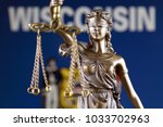 symbol of law and justice with... | Shutterstock . vector #1033702963