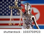 symbol of law and justice with... | Shutterstock . vector #1033703923