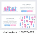 hair removal. concepts for web...   Shutterstock .eps vector #1033704373