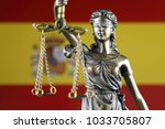 symbol of law and justice with... | Shutterstock . vector #1033705807
