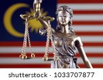 symbol of law and justice with... | Shutterstock . vector #1033707877