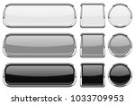 glass buttons with chrome frame.... | Shutterstock .eps vector #1033709953