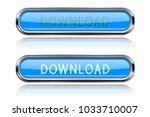 download blue glass buttons...   Shutterstock .eps vector #1033710007
